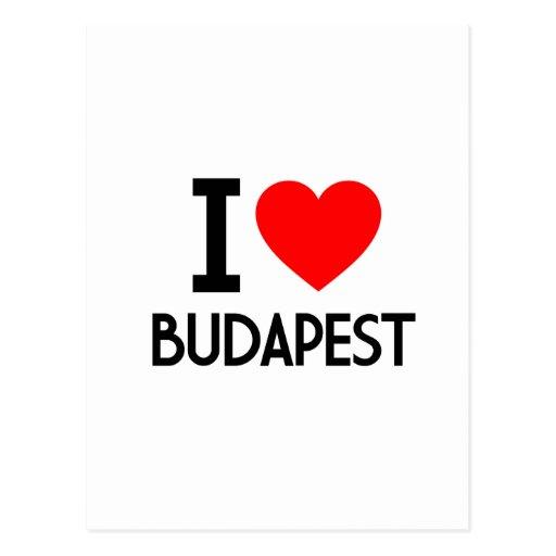 I Liebe Budapest Postkarte