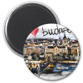 I Liebe Budapest Runder Magnet 5,7 Cm