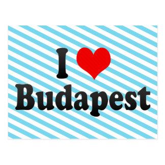 I Liebe Budapest, Ungarn Postkarte
