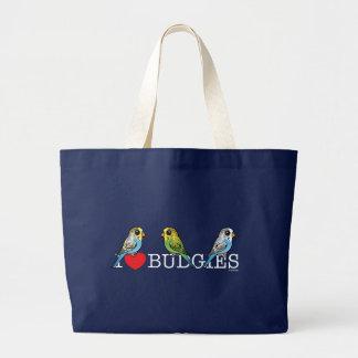 I Liebe Budgies Jumbo Stoffbeutel