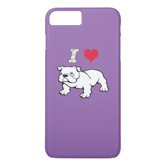 I Liebe-Bulldogge iPhone 8 Plus/7 Plus Hülle