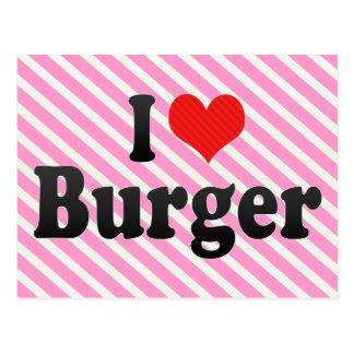 I Liebe-Burger Postkarte