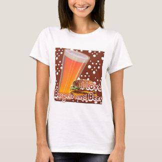 I Liebe-Burger und Bier Brewskies T-Shirt