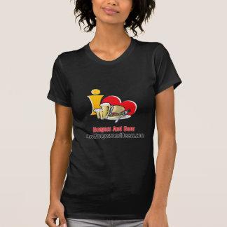 I Liebe-Burger und Bier-Burger T-Shirt