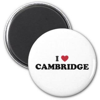 I Liebe Cambridge Massachusetts Runder Magnet 5,1 Cm