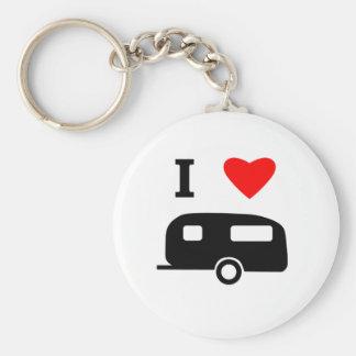 I Liebe-Camping Standard Runder Schlüsselanhänger
