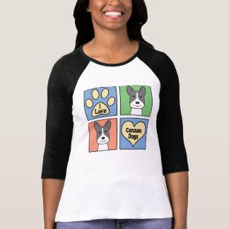 I Liebe Canaan Hunde T-Shirt