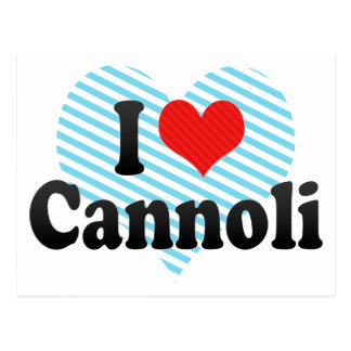 I Liebe Cannoli Postkarte