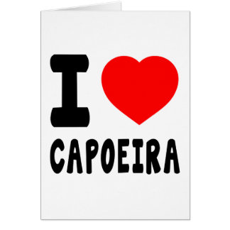 I Liebe Capoeira Karte