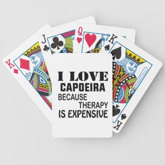 I Liebe Capoeira, weil Therapie teuer ist Bicycle Spielkarten