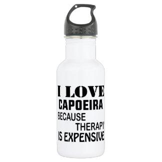 I Liebe Capoeira, weil Therapie teuer ist Trinkflasche