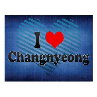 I Liebe Changnyeong, Korea Postkarte