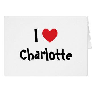 I Liebe Charlotte Karte