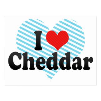I Liebe-Cheddarkäse Postkarte