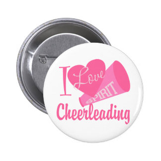 I Liebe Cheerleading Runder Button 5,7 Cm