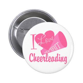 I Liebe Cheerleading Runder Button 5,7 Cm