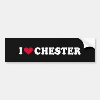 I LIEBE CHESTER AUTOAUFKLEBER