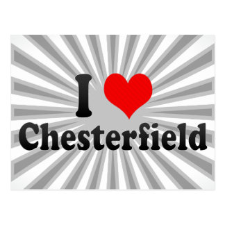 I Liebe Chesterfield, Vereinigte Staaten Postkarte