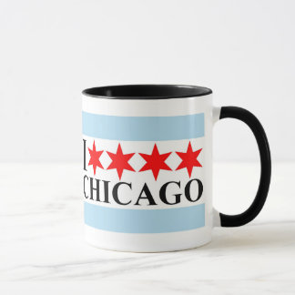 I Liebe Chicago - Chicago-Flaggen-Art Tasse
