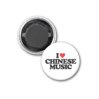 I LIEBE-CHINESE-MUSIK RUNDER MAGNET 2,5 CM