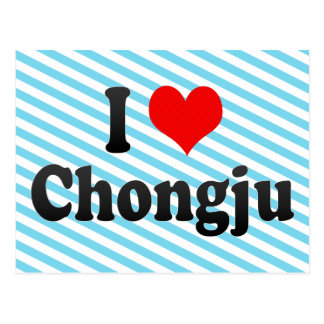 I Liebe Chongju, Korea Postkarte