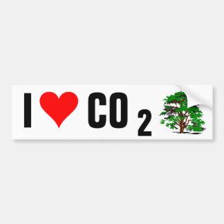I Liebe CO2 Autoaufkleber