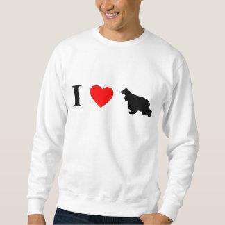 I Liebe-Cockerspaniel-Spaniels Sweatshirt