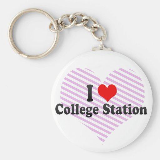 I Liebe College Station, Vereinigte Staaten Schlüsselanhänger