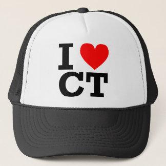 I Liebe-Connecticut-Entwurf Truckerkappe