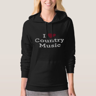 I Liebe-Countrymusik Hoodie