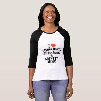 I Liebe-Cowboystiefel, Lieferwagen-LKWs u. T-Shirt