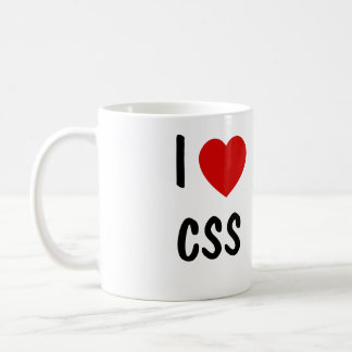 I Liebe CSS Kaffeetasse