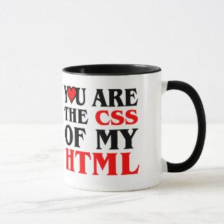 I Liebe CSS/SIE SIND DER CSS MEINES HTML/HERZENS Tasse
