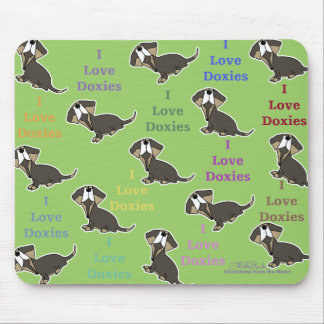 I Liebe-Dackelcollage Mousepads