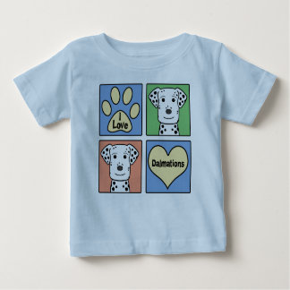 I Liebe Dalmations Baby T-shirt