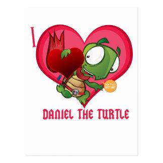 I Liebe Daniel die Schildkröte Postkarte