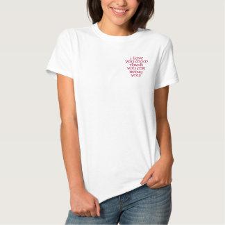 I LIEBE DANKEN SIE MAMMA IHNEN FÜR SEIN SIE BESTICKTES T-Shirt