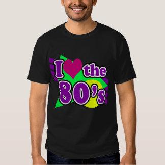 I Liebe das Achtzigerjahre geometrische Tshirts