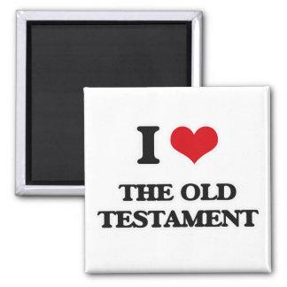 I Liebe das alte Testament Quadratischer Magnet
