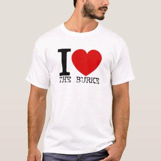 I Liebe das Burke (Schwarzes) T-Shirt