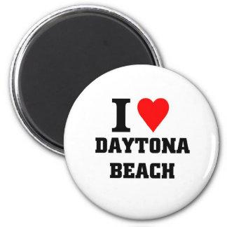 I Liebe Daytona Beach Runder Magnet 5,7 Cm