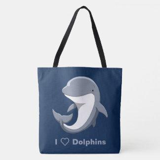 I Liebe-Delphineniedlicher Bottlenose Tasche