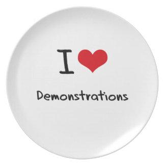I Liebe-Demonstrationen Party Teller