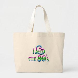 I Liebe der 80er Jumbo Stoffbeutel