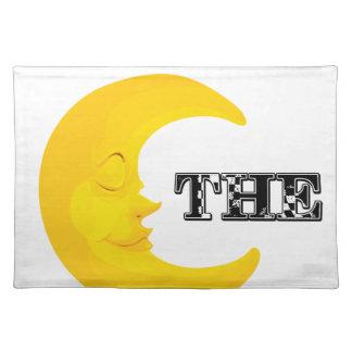 I Liebe der Mond Stofftischset