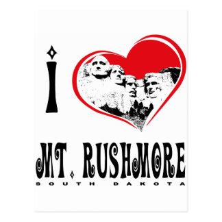 I Liebe der Mount Rushmore Postkarte
