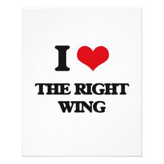 I Liebe der rechte Flügel Individuelle Flyer
