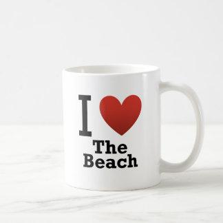 I Liebe der Strand Kaffeetasse