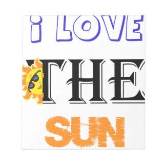 I Liebe der Sun Notizblock