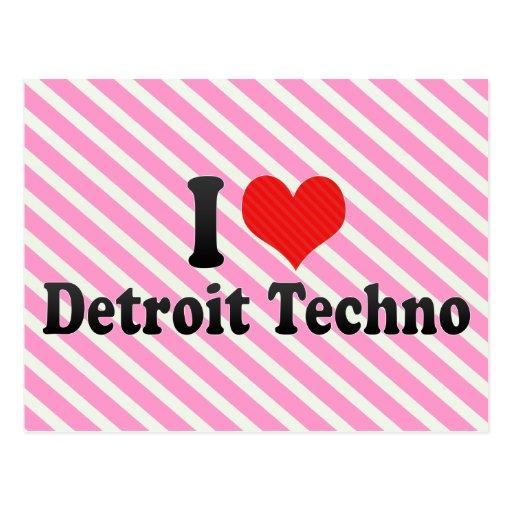 I Liebe Detroit Techno Postkarten